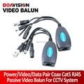 Twisted Pair Passive Power/Video/Data Balun Pair Coax BNC Balun Cat5 RJ45 PTZ