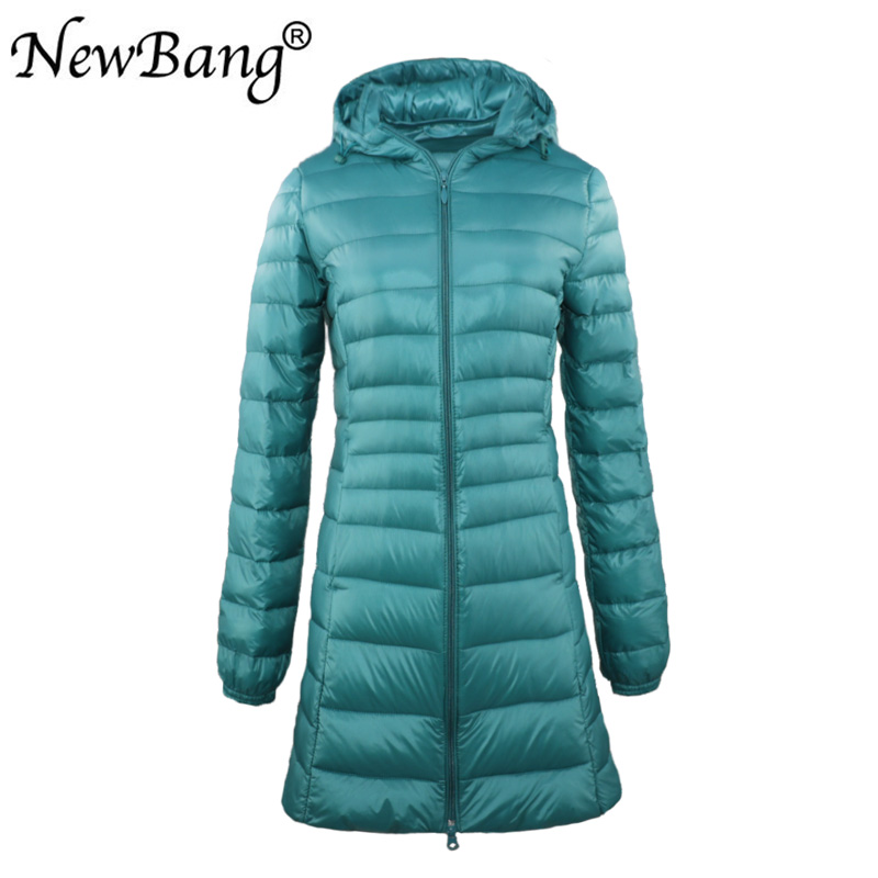 NewBang Brand 7XL  6XL Ladies Long Warm Down Coat Women Ultra Light Down Jacket With Bag Women's Overcoats Hip-Length