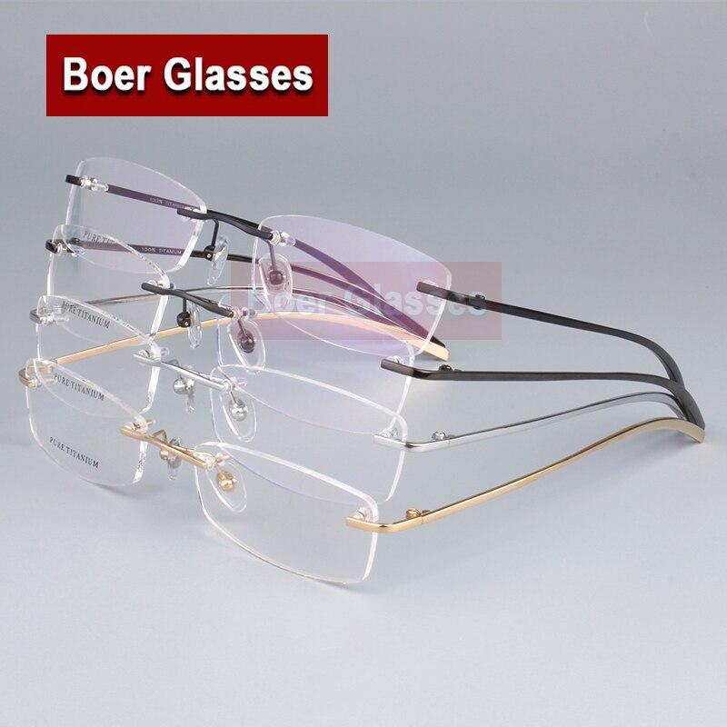1315d9778 حار بيع 100% الصرفة التيتانيوم الرجال النظارات الإطار البصرية النظارات  الطبية rxable النظارات خفيفة الوزن 1028