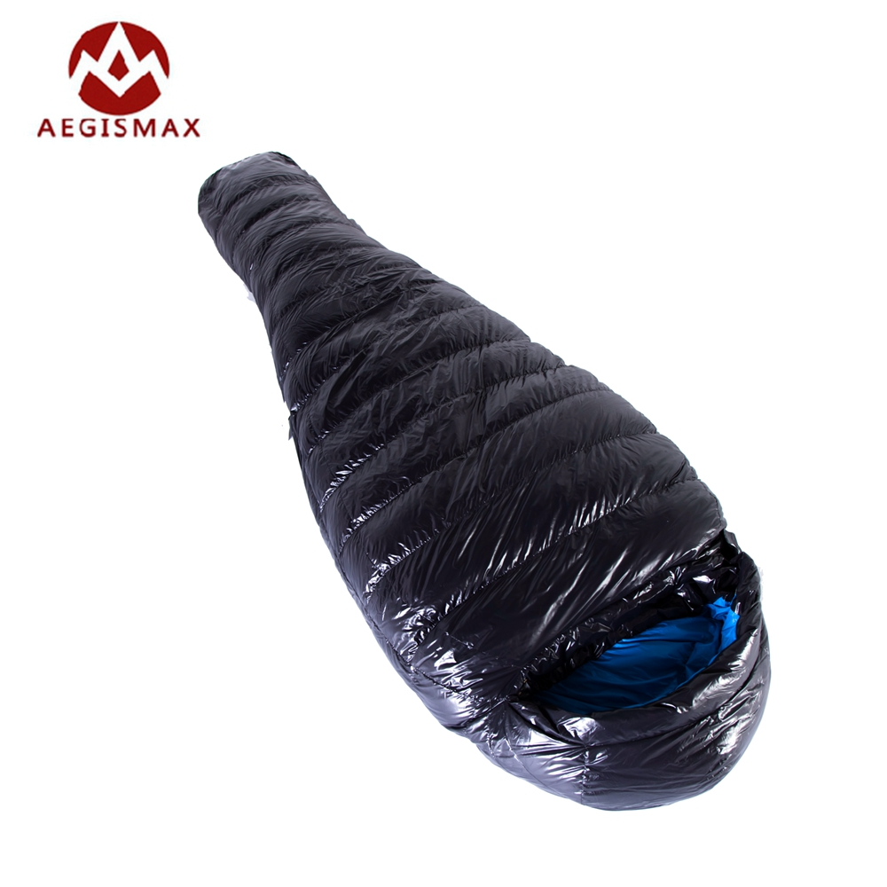 AEGISMAX Ultralight Outdoor Mummy Type White Goose Down Camping Hiking Sleeping Bag G400 Saco De Dormir