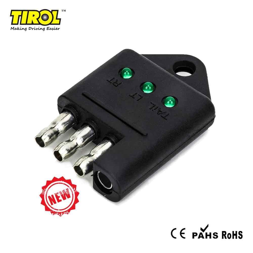 TIROL 7 Way Trailer Plastic Plug 7 Way RV Blade Connector Trailer