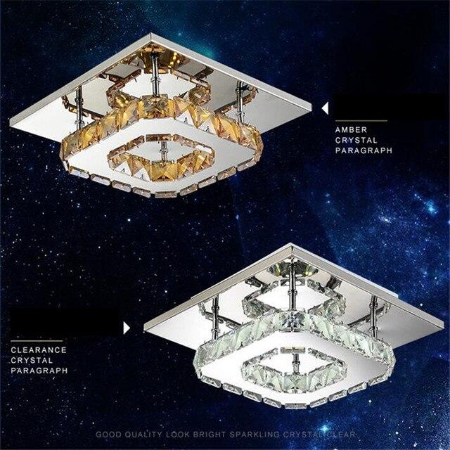 Vierkante Lusters Moderne LED plafond Verlichting Plafonnier Amber ...