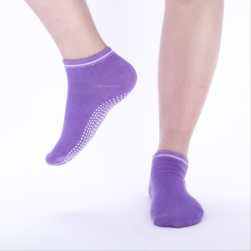 1 Pair Women Yoga Socks Quick-Dry Anti Slip Silicone Gym Pilates Ballet Socks Fitness Sport Socks Cotton Breathable Elasticity