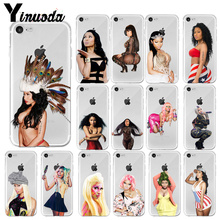 Yinuoda Queen Nicki Minaj Coque Shell Phone Case for iPhone X XS MAX  6 6s 7 7plus 8 8Plus 5 5S SE XR
