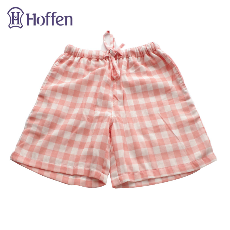 f1a5f2eabeee6 Hoffen High Quality Womens Sleep Shorts Plaid Striped Pattern Drawstring  Pajama Bottoms Women Soft Cotton Home