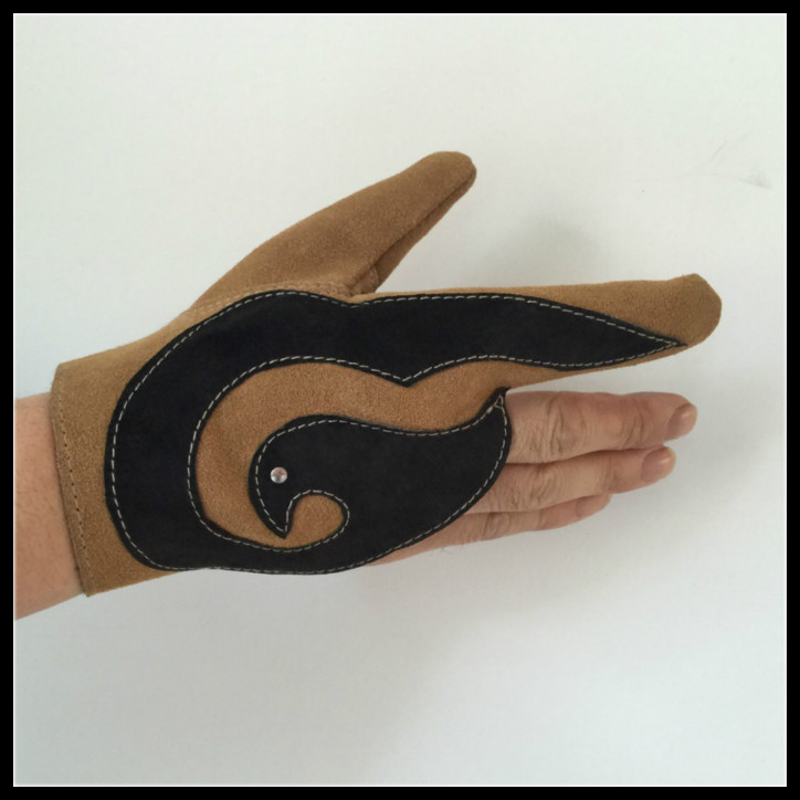 Cowhide Glove For Small Falcon Handmade Eagle Gloves Three Fingers Leather Gloves For Accipiter Nisus Falconry Accessories