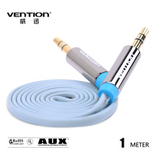 Vention flat Blue Audio Cable 3.5mm to 3.5 mm jack aux cable for car FOR Headphone/PC/MP3/DVD/HDTV/Mobilephone
