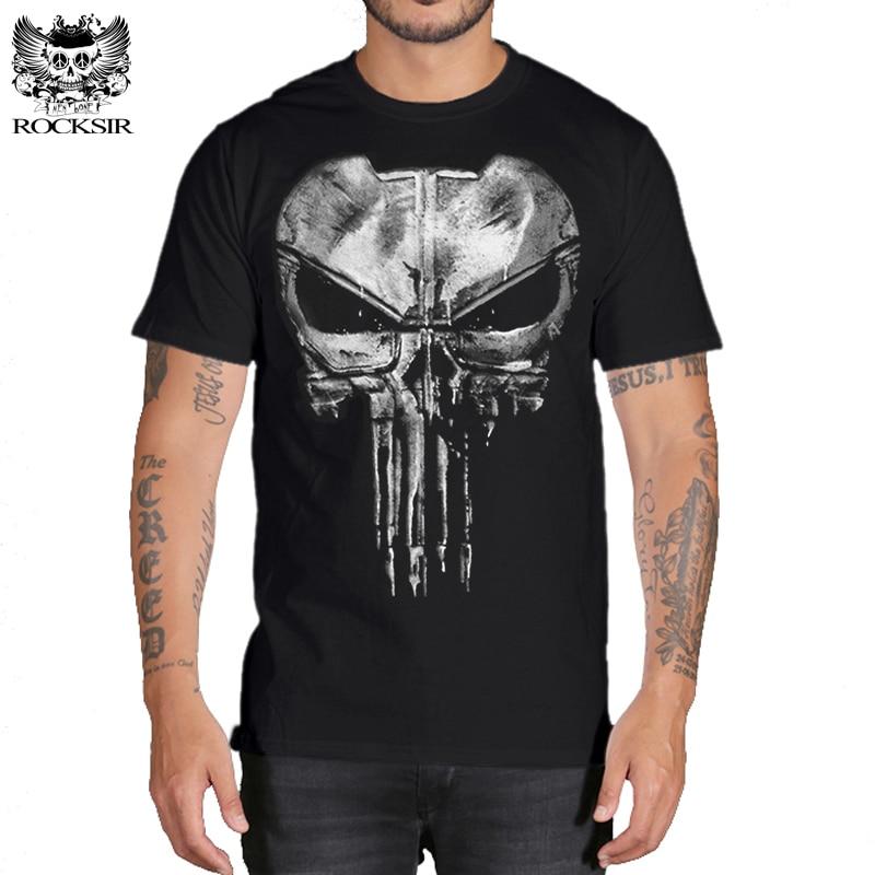 Punisher Streetwear Tshirt Men Hip Hop Funny   T     Shirts   Mens   T     Shirts   Fashion 2018 Boyfriend Gift Cotton Print Casual   T  -  shirt
