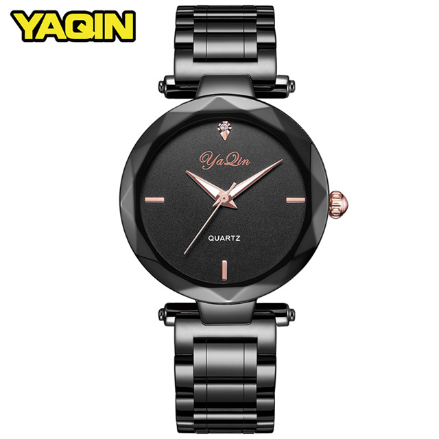YAQIN new fashion top luxury brand women business watch casual steel strip diamond gold watch Relogio Feminino Montre Femme цена 2017