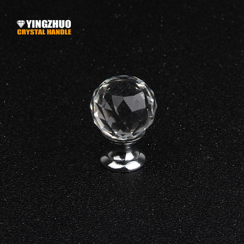 10PCS/Lot 25MM Clear Crystal Ball Glass Diamond Door Knobs Kitchen Cabinet Wardrobe Pull Handle Knobs Drawer Knobs With Screws hot 5pcs lot 20 40mm crystal glass ball alloy door drawer cabinet wardrobe pull handle knobs decoration diy free shipping