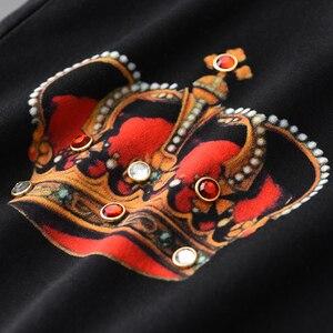 Image 4 - Minglu 100% Katoen Heren T shirts Luxe Diamant En Afdrukken Ronde Kraag Mannen T shirts Plus Size 4xl Slim Fit T shirts Man
