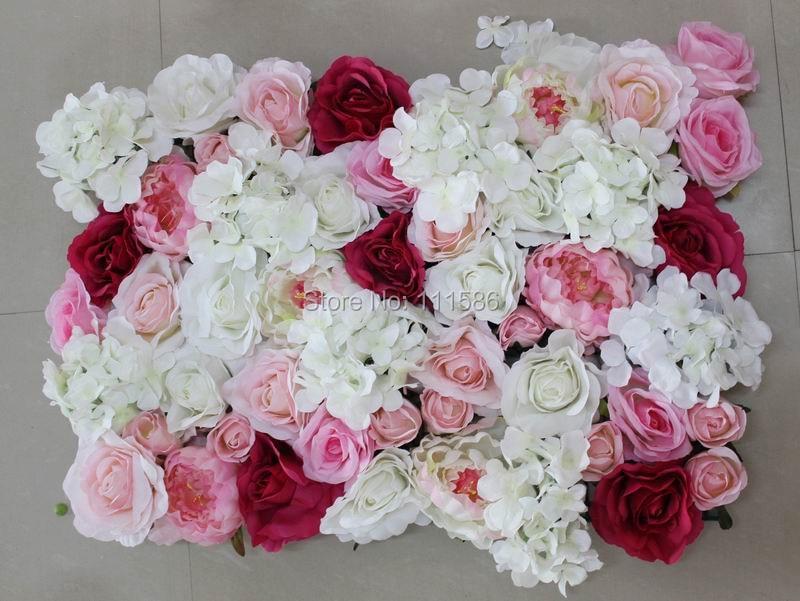 SPR 무료 배송 2017 SPR penoy 자양화 장미 꽃 벽 결혼식 배경 장식 인공 꽃 아치 장식 플로어