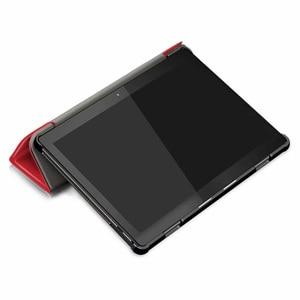 Image 3 - 30 ชิ้น/ล็อต Slim Folio PU สำหรับฝาครอบ Lenovo TAB M10 X605 TB X605F Luxury Case Protector ผิว
