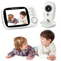 Two Way Talkback Audio and Lullaby Soother System Wireless Video Baby Monitor with Digital Camera WiFi 3.2 Inch
