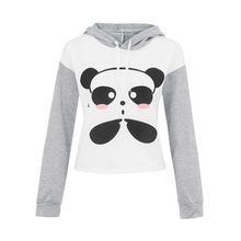 Hoodies Women Cute Cartoon Panda Print Long Sleeve Sweatshirt Casual Tracksuit Outerwear Harajuku busos para mujer 4FN(China)