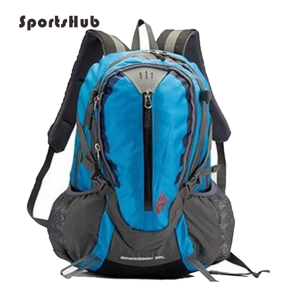 SPORTSHUB 32L Beg luar Unisex Kalis air Nylon Sukan Backpack Beg belakang Kemeja-T Kembara Berbasikal Beg Backpack SB0001