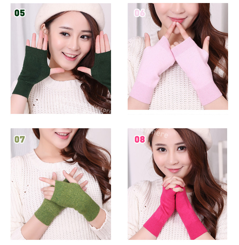 HTB1mWEAKVXXXXc7XFXXq6xXFXXXe - Genuine Fine Sheep Wool Mitt Exposed Finger Women's Gloves Winter Autumn Knitted for Women Fingerless Gloves Wrist Mittens