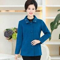 W średnim wieku i starszych mody tkaniny płaszcz P2303