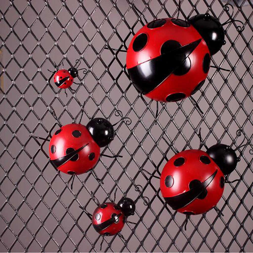 الحديد الخنفساء المعادن الحيوان معلقة جدار الفن شماعات داخلي في الهواء الطلق حديقة ديكور المنزل ، 10 سنتيمتر