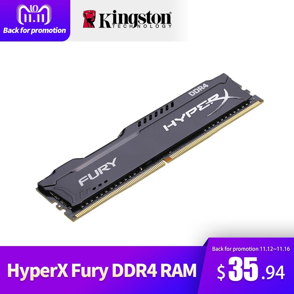 Kingston HyperX FURY 4GB 8GB 16GB DDR4 2400MHz PC RAM Memory DIMM 288-pin Desktop Ram Internal Memory RAM For Computer Games Ram kingston ram memory ddr4 hyperx fury 4gb 8gb 16gb 2400mhz ddr4 ram memory intel memoria ram desktop pc computer memory stick