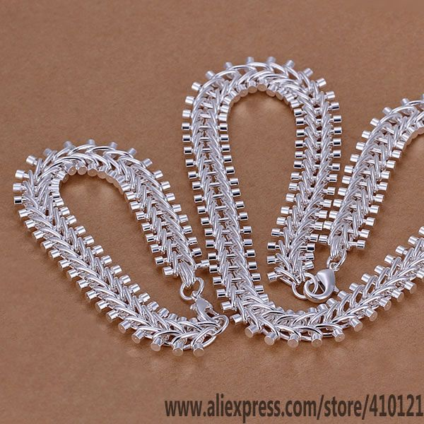 Jewelry & Accessories Sweet-Tempered S042 Hot Sale Silver Plated Jewelry,wholesale 925 Jewelry Silver Charms Free Shipping Fashionset Fish Bone /daialrpa Hoqaqfxa Jewelry Sets & More