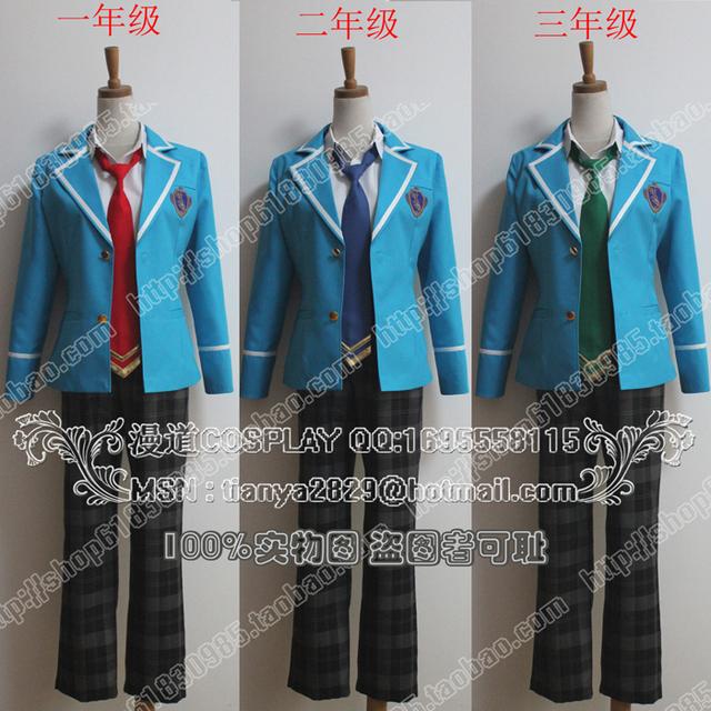 Ensemble estrellas babylon Hokuto Hidaka Narukami Arashi Aoi Yuta japonés uniforme escuela superior de cosplay, Perfect custom for you