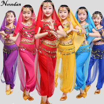 Kids Child Belly Dance Costume Oriental Costumes Dancer Clothes Bollywood Indian For Girls
