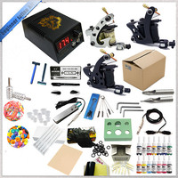 Biomaser TK 2507 Tattoo Kit 3 Tattoo Machines Gun Black Ink Set Power Supply Grips Body Arts Tools Set Tattoo Permanent Makeup