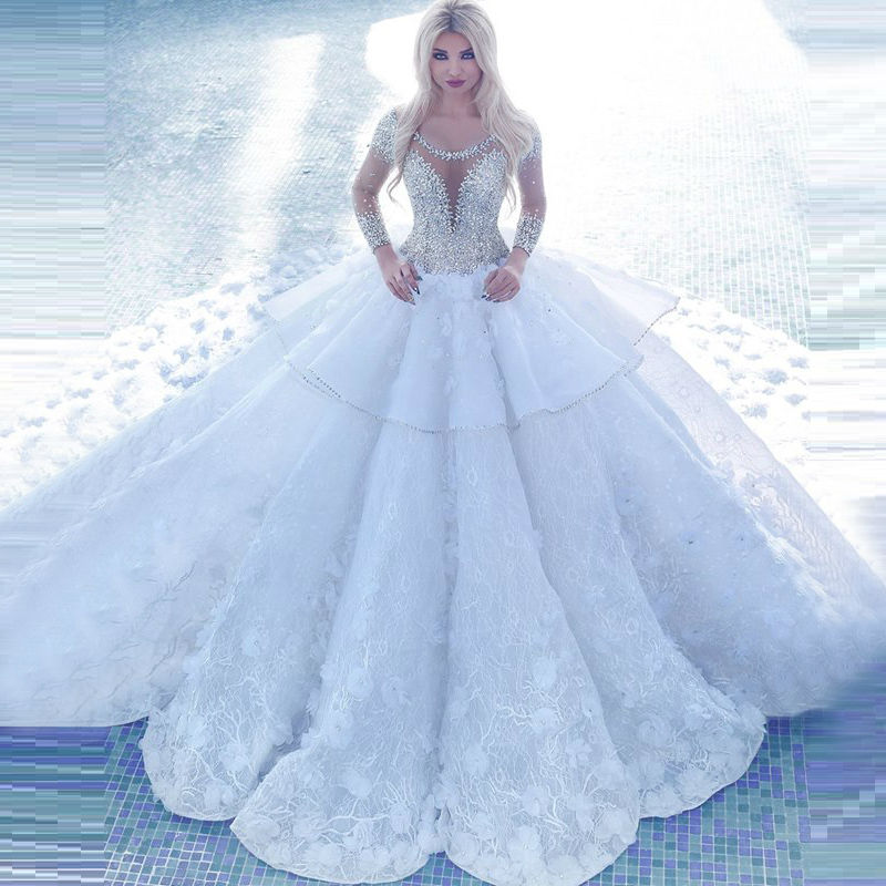 Online buy wholesale white bridal couture from china white for High couture wedding dresses