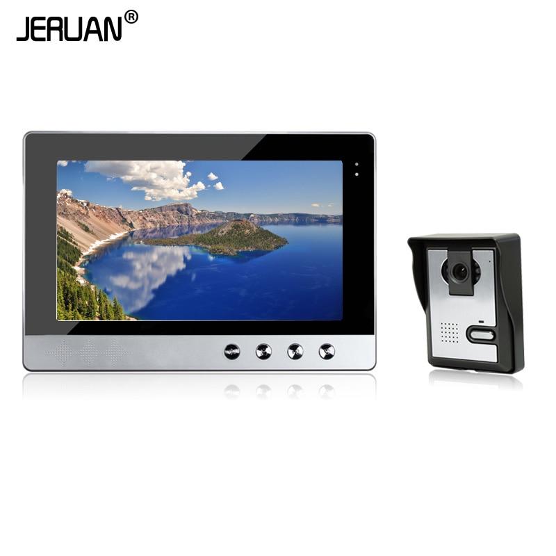 JERUAN 10 Inch Video Intercom System Doorbell Night Vision IR Camera Monitor TFT Color Display