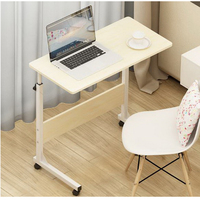 250304/Wearable PU roller/Home bed with simple desk /Folding mobile small desk/Lazy bedside laptop desk /