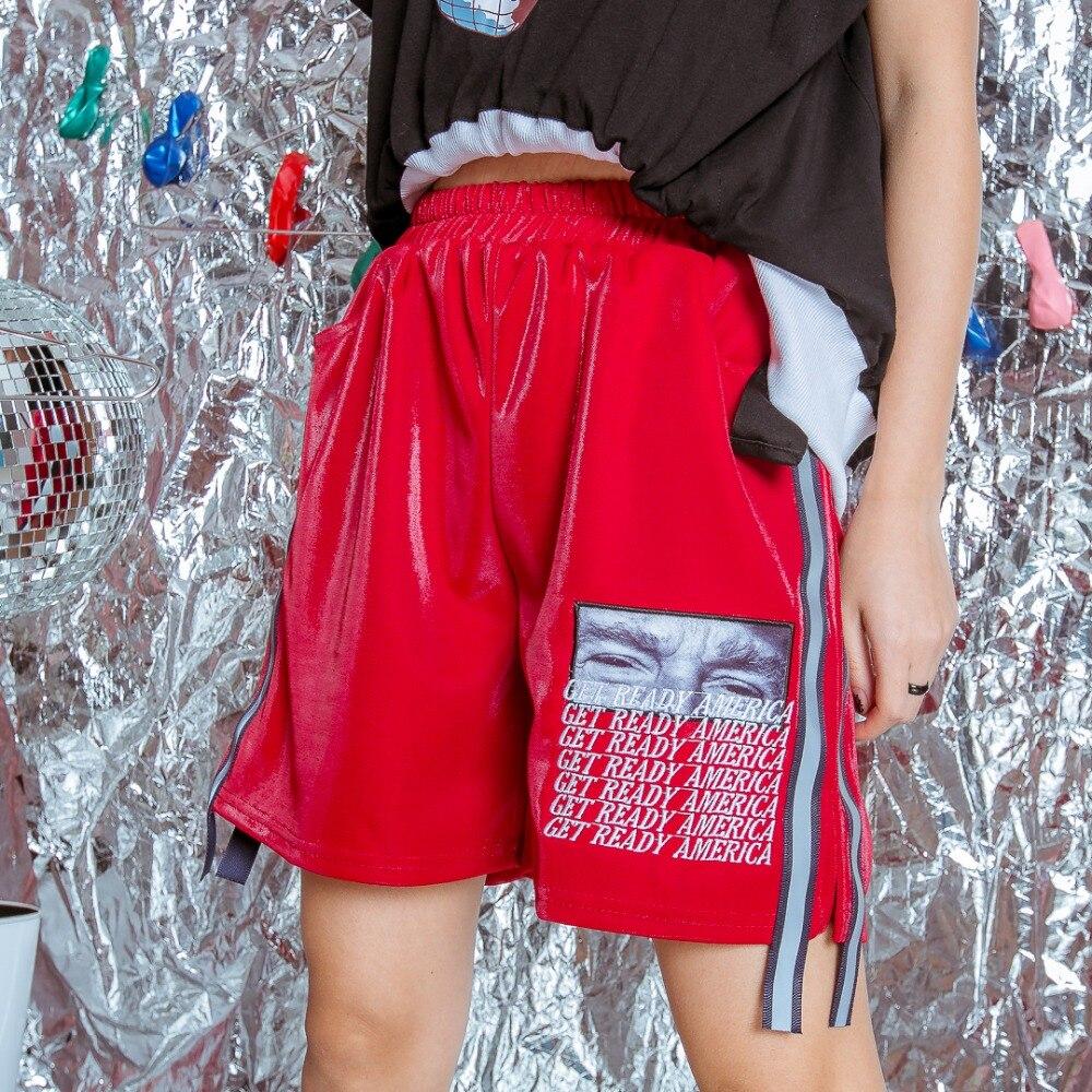 Original Negro Hop Bf Pantalones Calle Suelta rojo Marca Cara Cara Casuales Brillante púrpura Personalidad Letras Hip Bordado rHrwq16