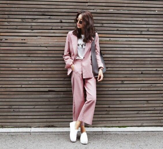 8a149068c Las mujeres del otoño y invierno desgaste señoras traje vestido Delgado  carrera de moda trajes negocios formal oficina trabajo