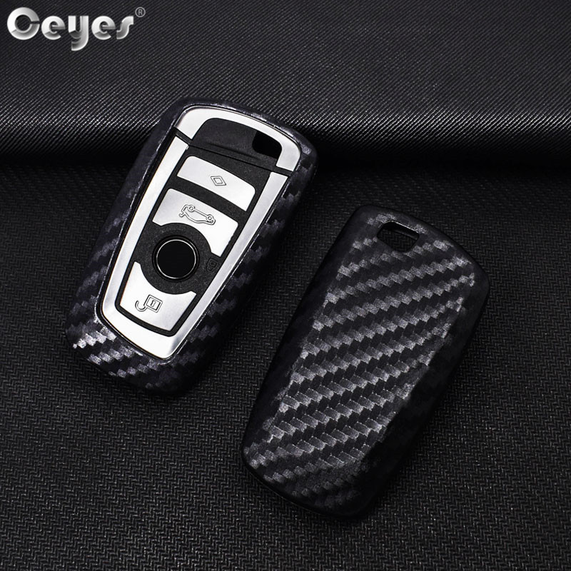Ceyes Car Styling Auto Key Shell Cover Case For Bmw F05 F10 F20 F30 Z4 X1 X4 X5 X6 New X7 Carbon Fiber Accessories Car-Styling стоимость