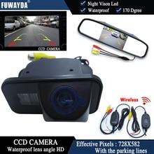 Беспроводная цветная CCD Автомобильная камера заднего вида FUWAYDA для TOYOTA Corolla Tarago Previa Wish Alphard + 4,3-дюймовый монитор зеркала заднего вида