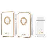 CACAZI 38 Tunes Wireless Cordless Doorbell Remote Control Door Bell Chime No Need Battery Waterproof EU