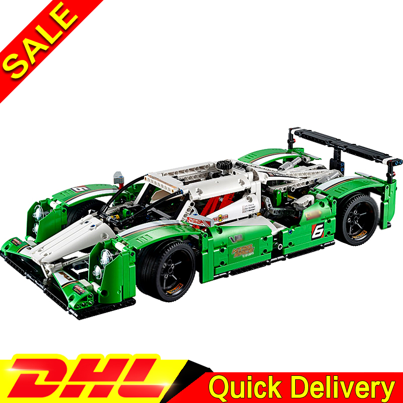 LEPIN 20003 Technic Series The 24 hours Race Car Building Blocks Bricks Set Toys Gifts lepins Clone 42039 lepin technic city series 24 hours race car building blocks bricks model kids toys marvel compatible legoe