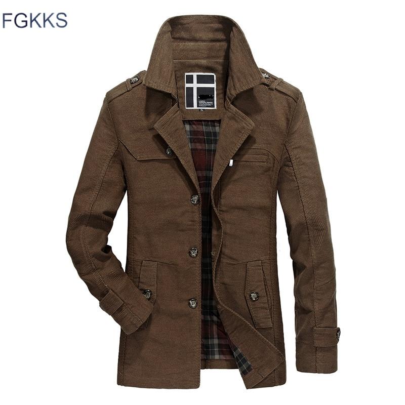 FGKKS Fashion Brand Men Jackets 2019 Autumn Winter Men's Windbreaker Casual Jackets Male Solid Color Slim Fit Jacket Coats