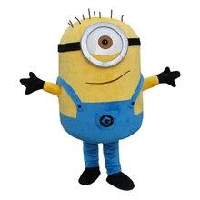 Despicable minion mascote traje carnaval festival vestido roupa adulto tamanho frete grátis