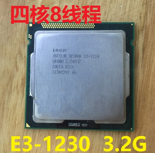 Intel Xeon e3 1230 E3-1230 E3 1230 SR00H 3,20 ГГц/8 МБ/4 ядра LGA1155 Процессор процессор в наличии может работать