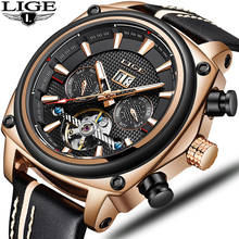 2019 NEW Reloj Mujer LIGE Mens Watches Tourbillon Fashion Luxury Sport Watch Men Classic Automatic Mechanical Waterproof Watch все цены