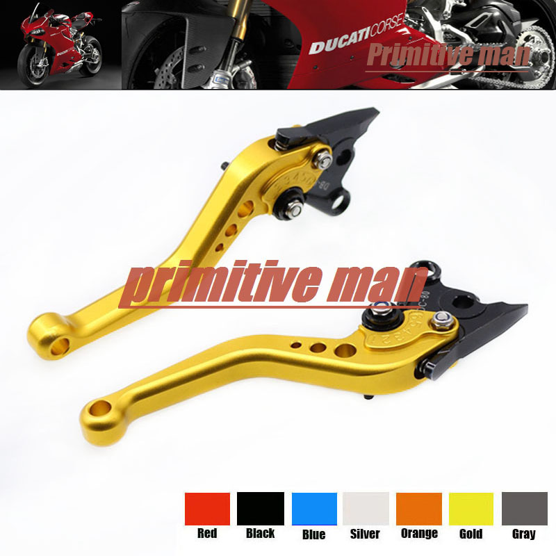 For Ducati ST4/S ST3/S SPORT1000 GT1000 S2R1000 Motorcycle Aluminum Short Brake Clutch Levers Gold james c fishbein advances in molecular toxicology 6