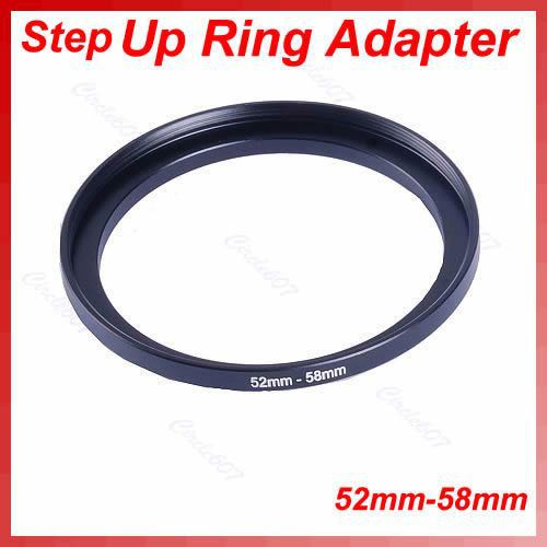 OOTDTY 1PC Metal 52mm-58mm Step Up Filter Lens Ring Adapter 52-58 mm 52 to 58 Stepping