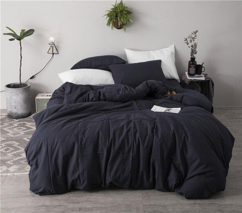 Luxury 100% Cotton Black white Luxury Bedding set 4/6pcs Simple style Bed set King Queen Size Duvet cover Bedsheet set