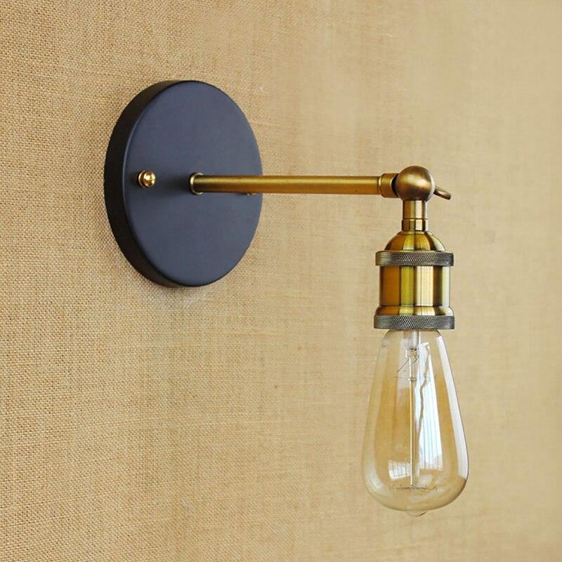 retro loft industrial lmpara de pared ledbombilla e luz edsion xido de hierro lmpara de pared para el bar saln cocina hab