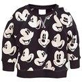 2017 Crianças hoodies primavera nova chegada do bebê meninos meninas dos desenhos animados camisola Terry camisa de manga longa jaqueta de roupas de bebê das crianças