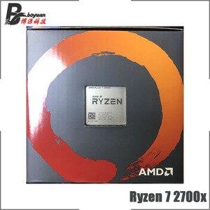 Image 4 - AMD Ryzen 7 2700X R7 2700X 3.7 GHz שמונה ליבות שש עשרה חוט מעבד מעבד L3 = 16M 105W YD270XBGM88AF שקע AM4 חדש עם מאוורר