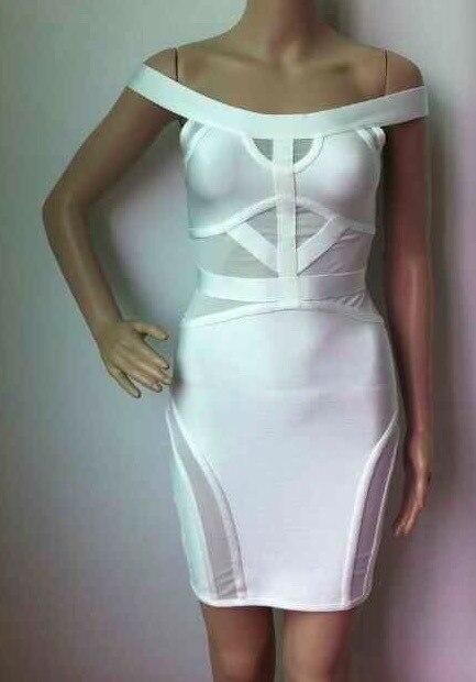 2 цвета новинка модные черные/белые сетчатые с плеча bodycon платья оптом падение одежа+ костюм