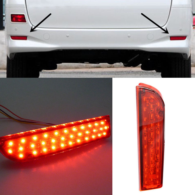 For Toyota Alphard Light guide Rear fog lamp Brake Highlight With Turn SignalFor Toyota Alphard Light guide Rear fog lamp Brake Highlight With Turn Signal