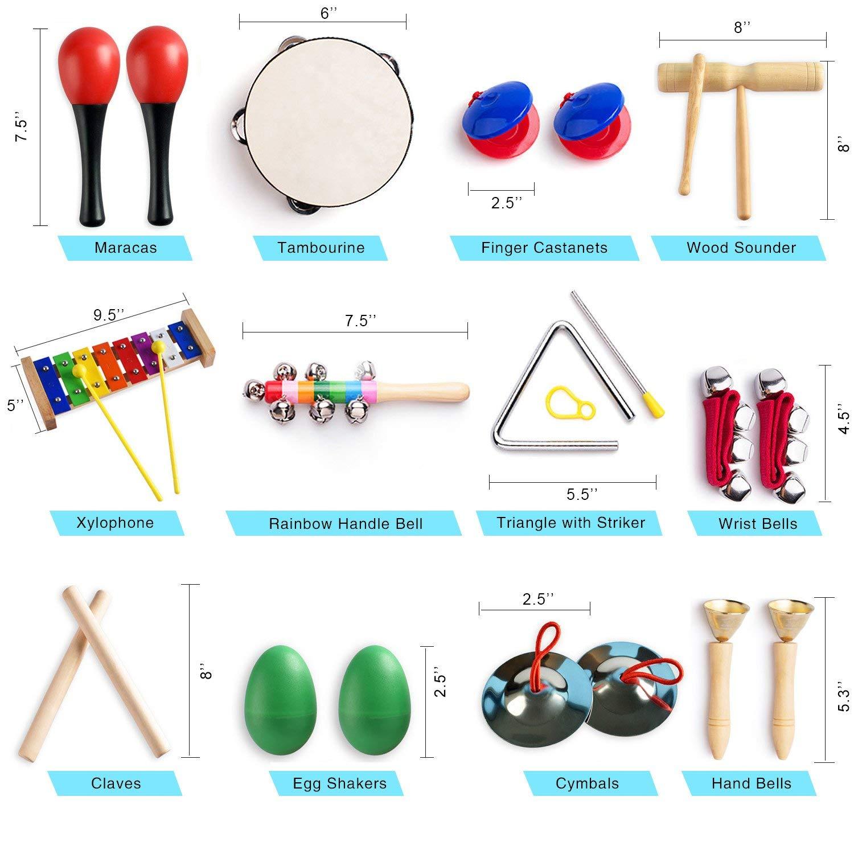 Instrumentos musicais para a Criança com Saco de Transporte